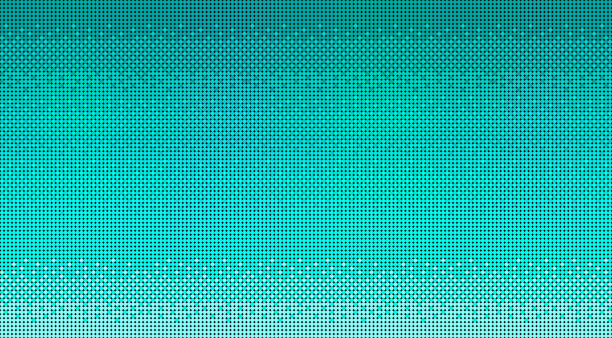 Vibrant Turquoise Baby Blue Pixelated 8-bit Video Game Background or Wallpaper vector art illustration