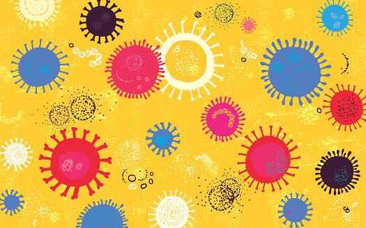 Vibrant Virus Background