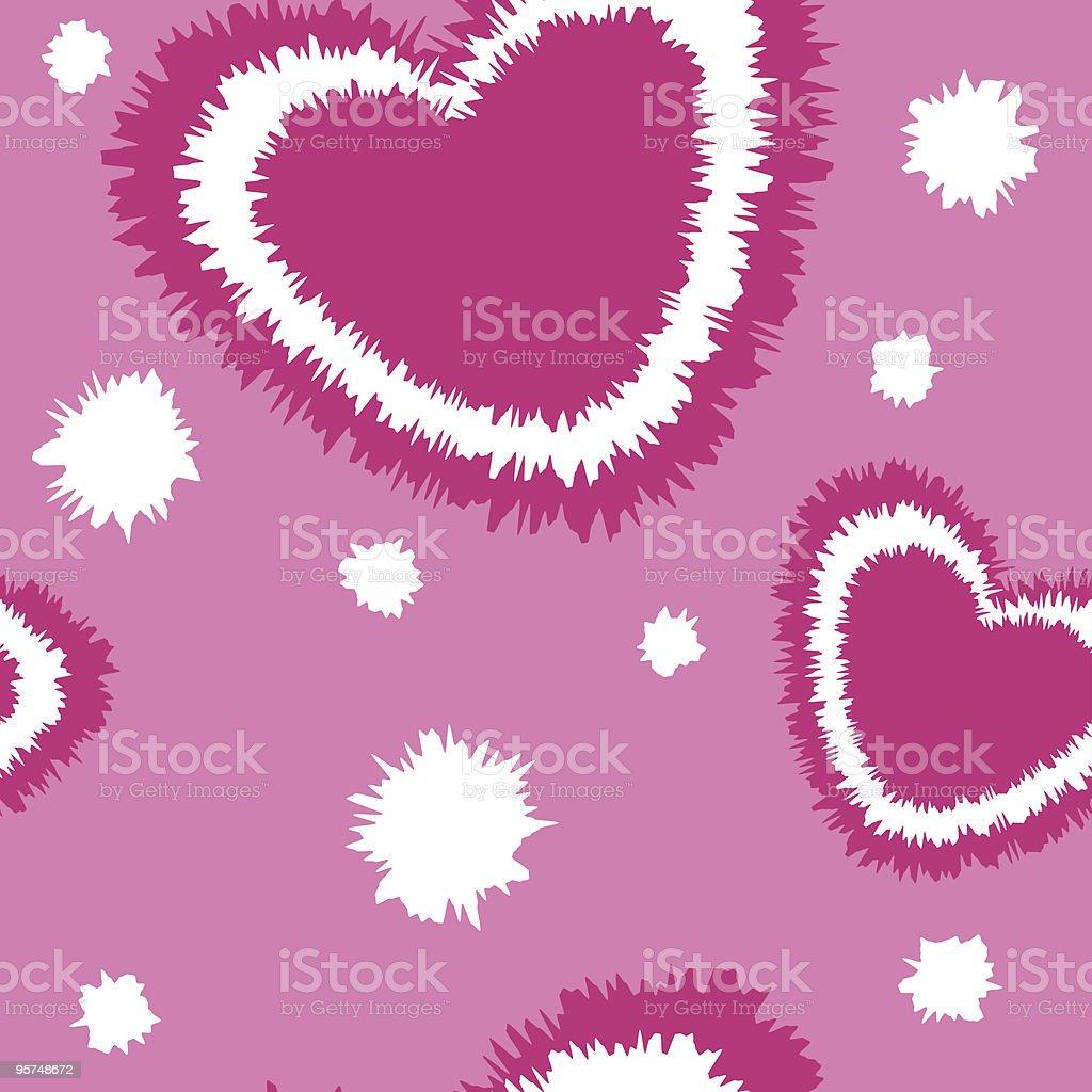 Vibrating hearts tile wallpaper background royalty-free stock vector art