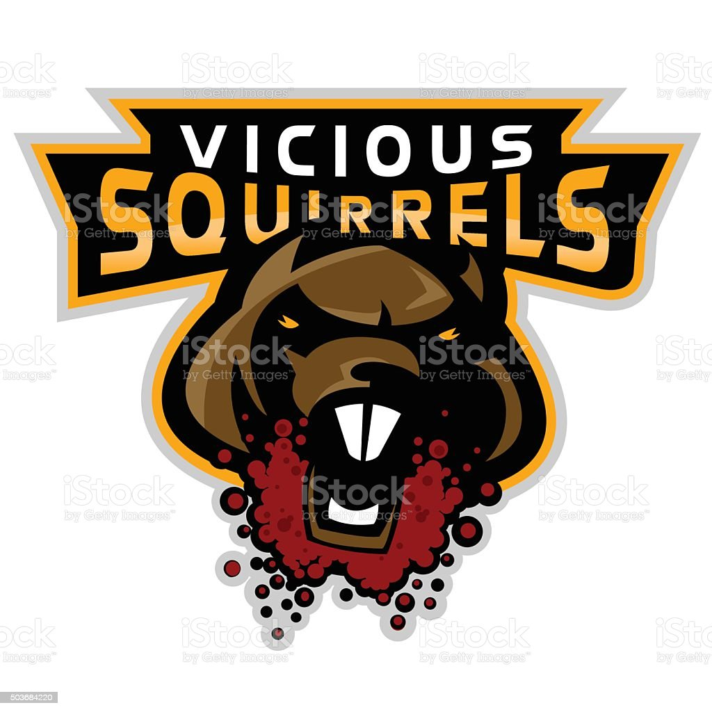 vicious squirrels logo stock vector art more images of acorn