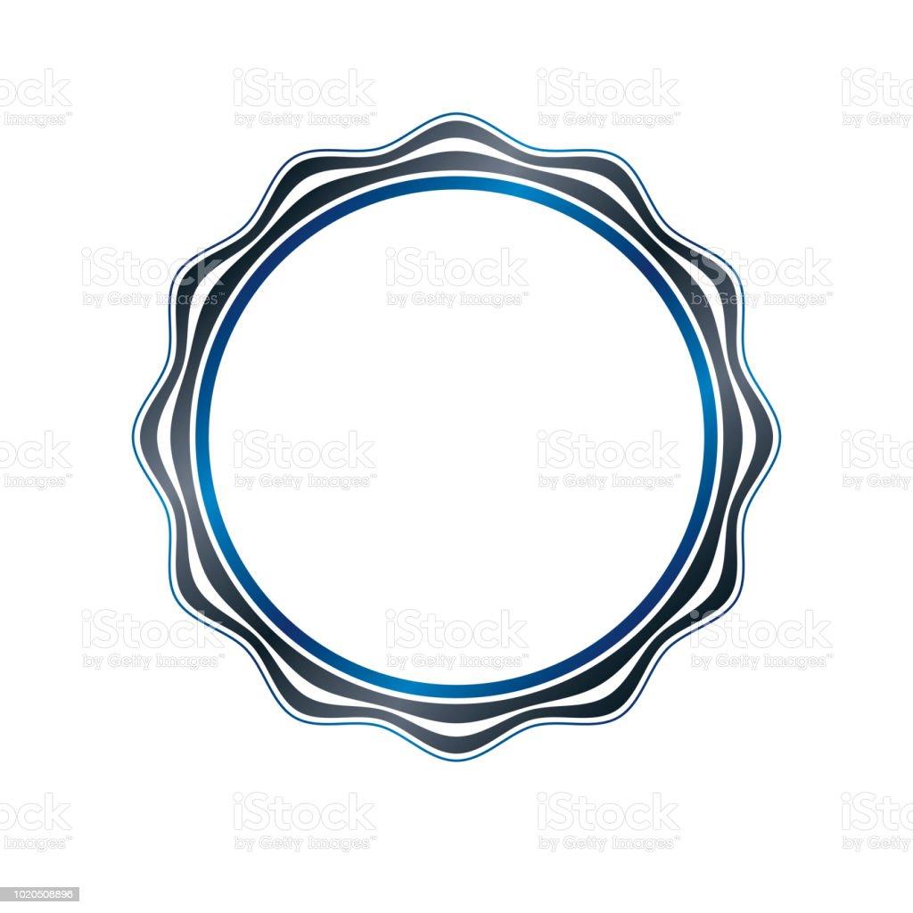 Arte vitoriana vetor circular quadro com espaço em branco cópia criado usando curvas ornamentado. Ilustração do modelo heráldico. - ilustração de arte em vetor