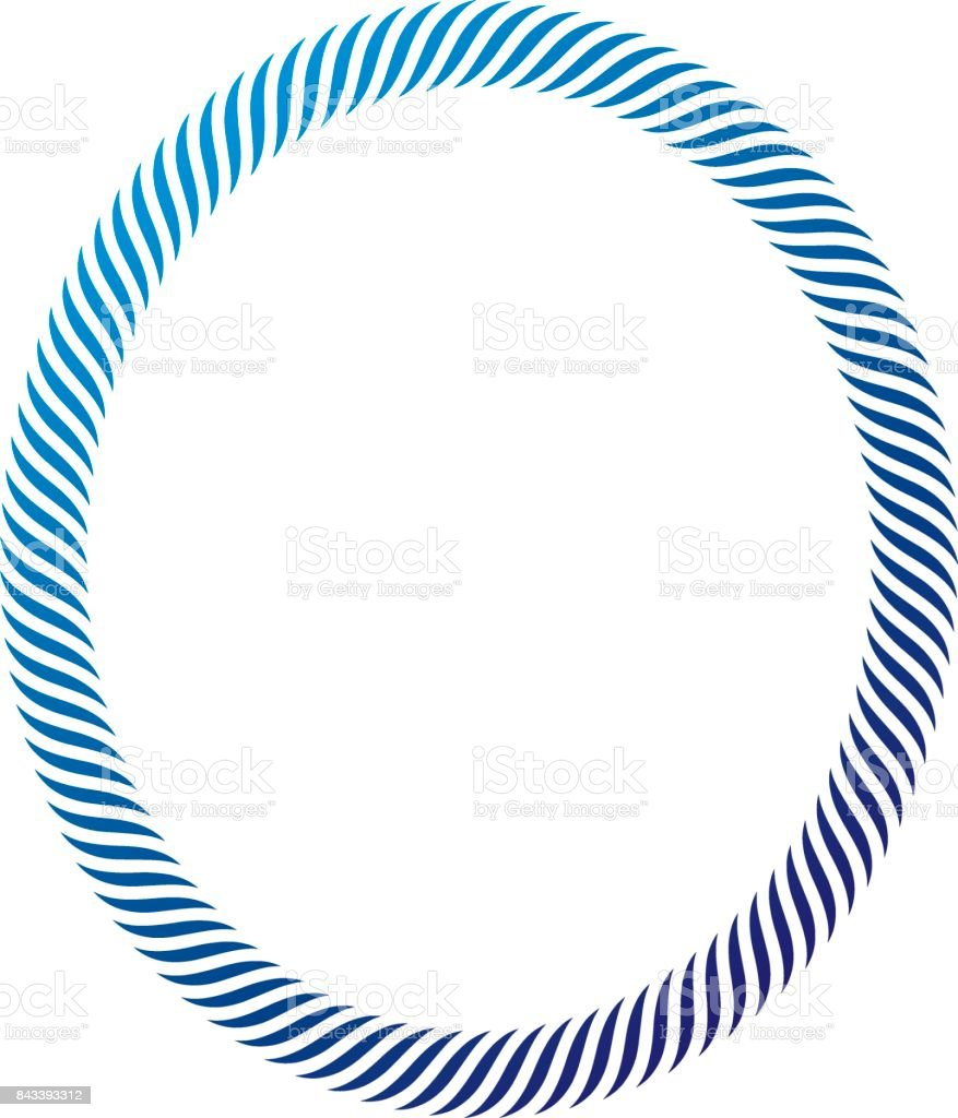 Victorian art vector circular frame with blank copy space created using stylish rope decoration. Heraldic template illustration. vector art illustration