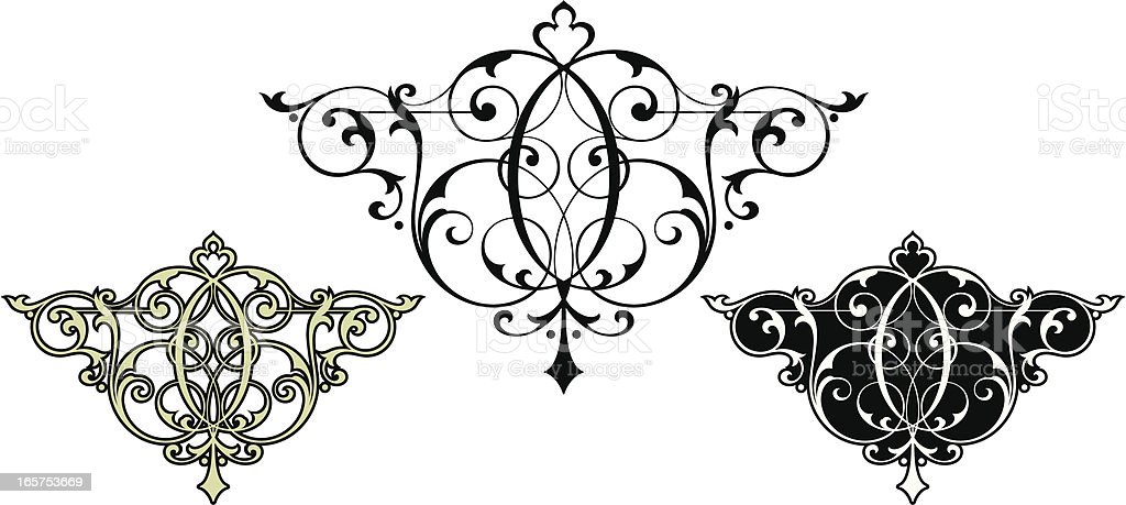 Victorian background Scrolls vector art illustration