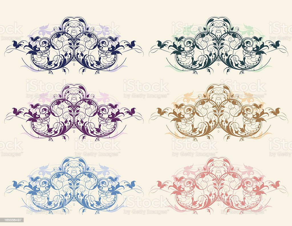 Victorian Color Set royalty-free victorian color set stock vector art & more images of angle