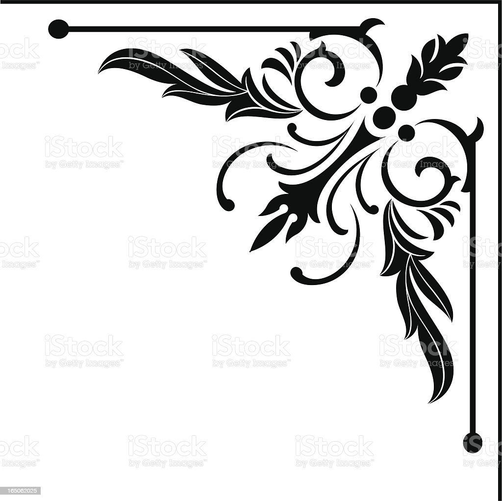 victorian corner design stock vector art amp more images of