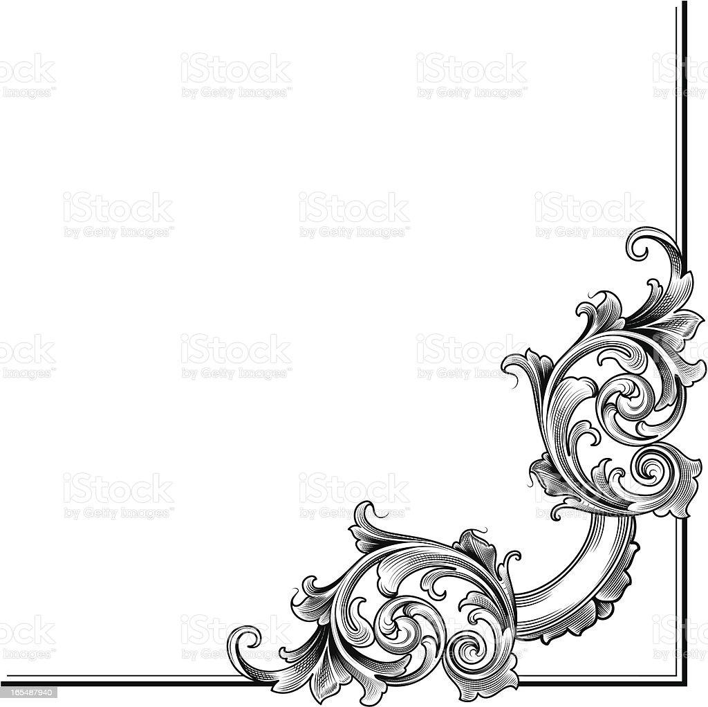 Victorian Corner royalty-free stock vector art