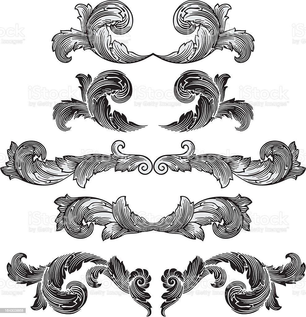 Victorian decoration vector banners royalty-free stock vector art