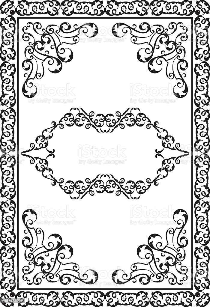 Victorian design elements and page decoration royalty-free stock vector art