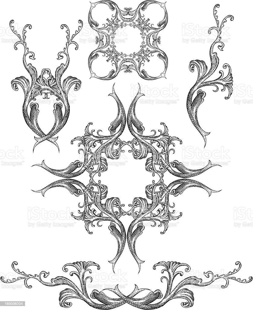 victorian design elements royalty-free stock vector art