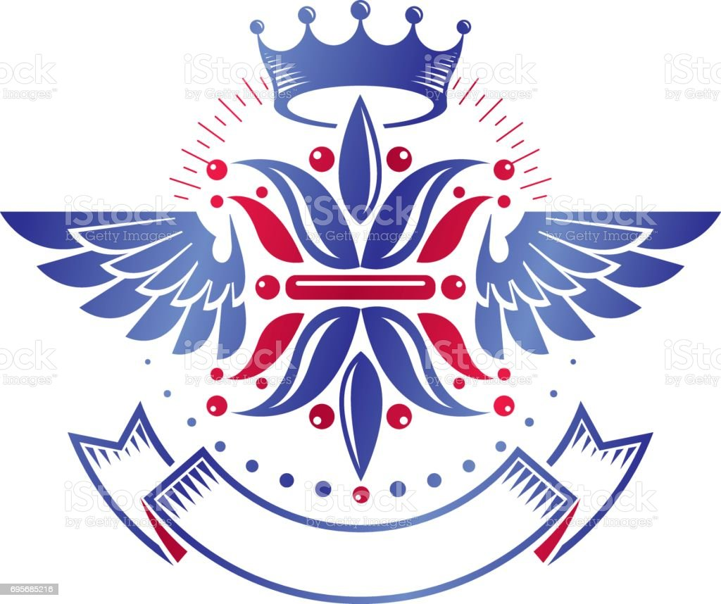 Victorian emblem composed using lily flower and monarch crown royal victorian emblem composed using lily flower and monarch crown royal quality award vector design element izmirmasajfo