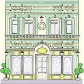 Victorian facade building