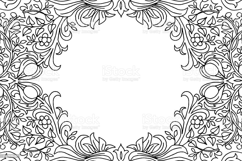 victorian flower pattern card template いたずら書きのベクター