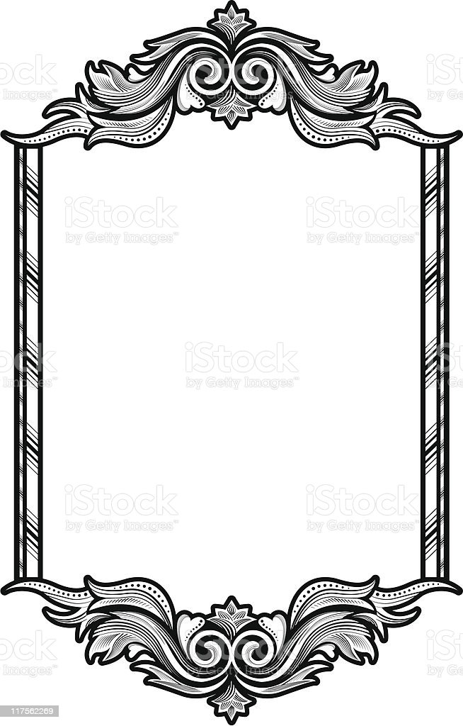 victorian frame stock vector art more images of black and white rh istockphoto com round victorian frame vector victorian picture frame vector