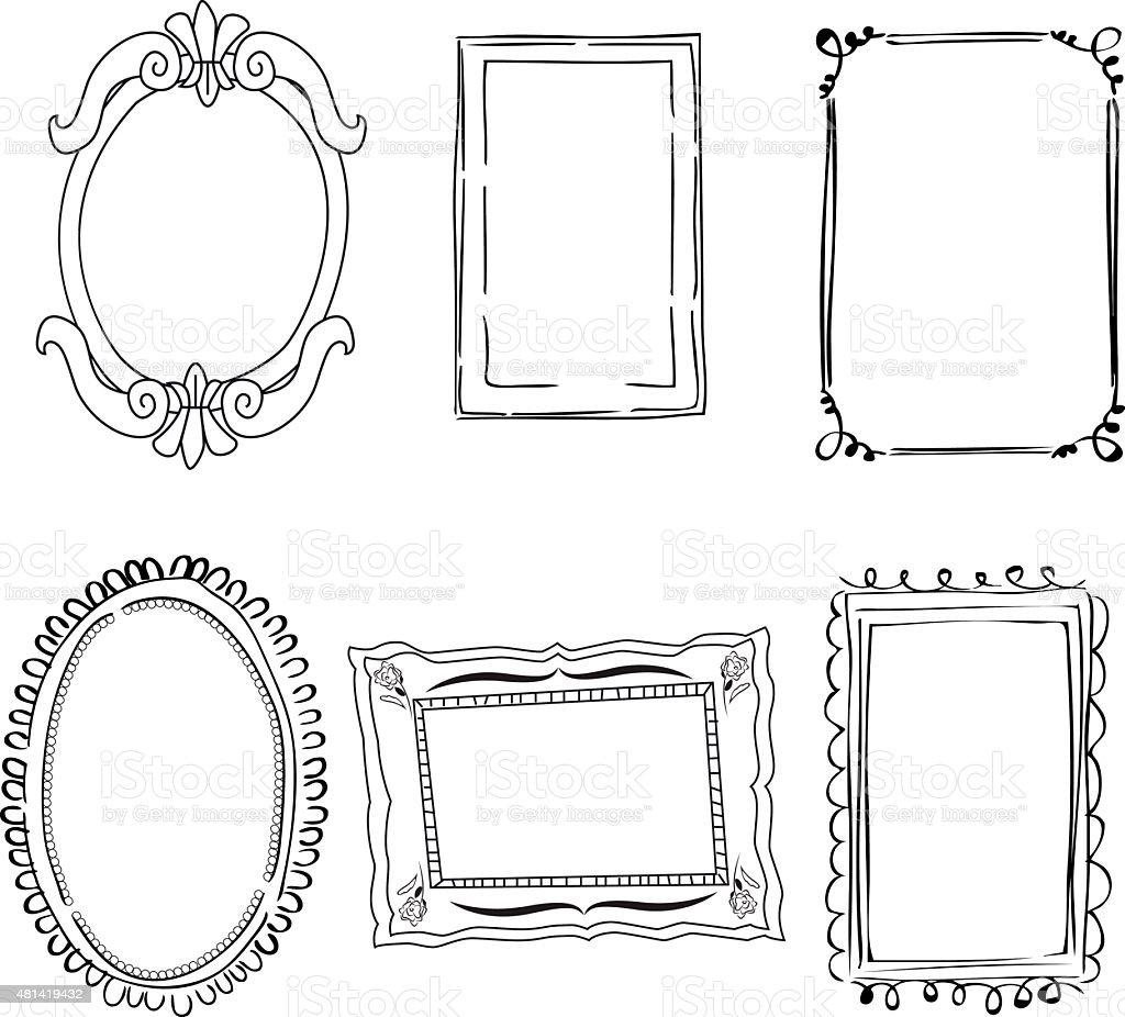 Victorian Frames Stock Vector Art & More Images of 2015 481419432 ...