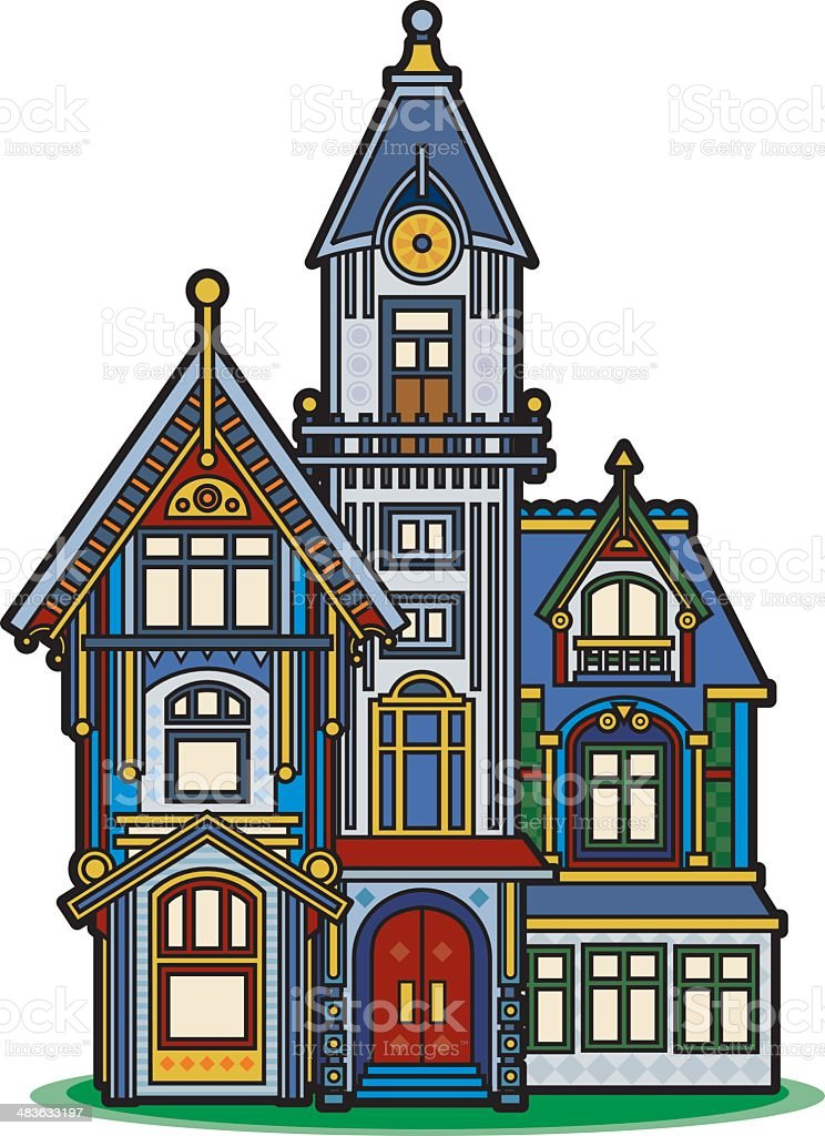 Mansion Drawing: Victorian House Stock Illustration