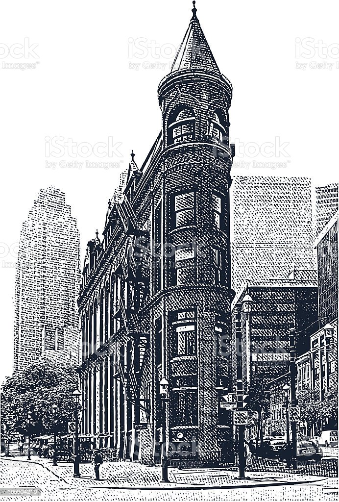 Victorian Office Building. Toronto, Canada royalty-free stock vector art