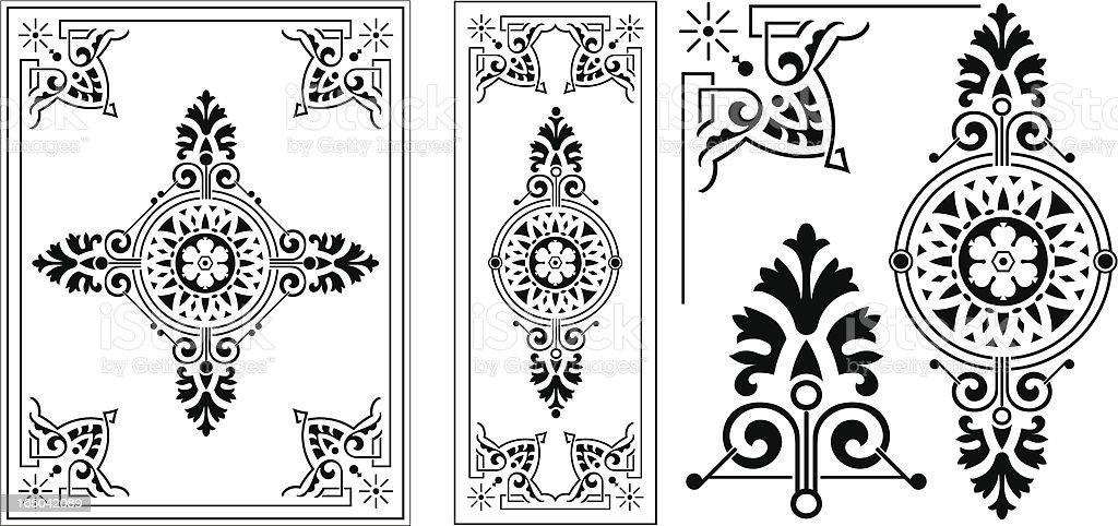 Victorian Ornate Panel vector art illustration