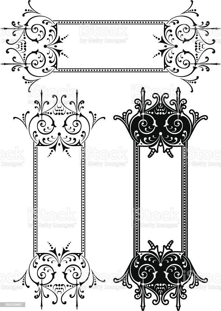 Victorian Panel and Scrolls royalty-free stock vector art