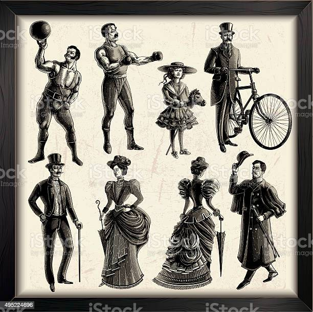 Victorian era people set