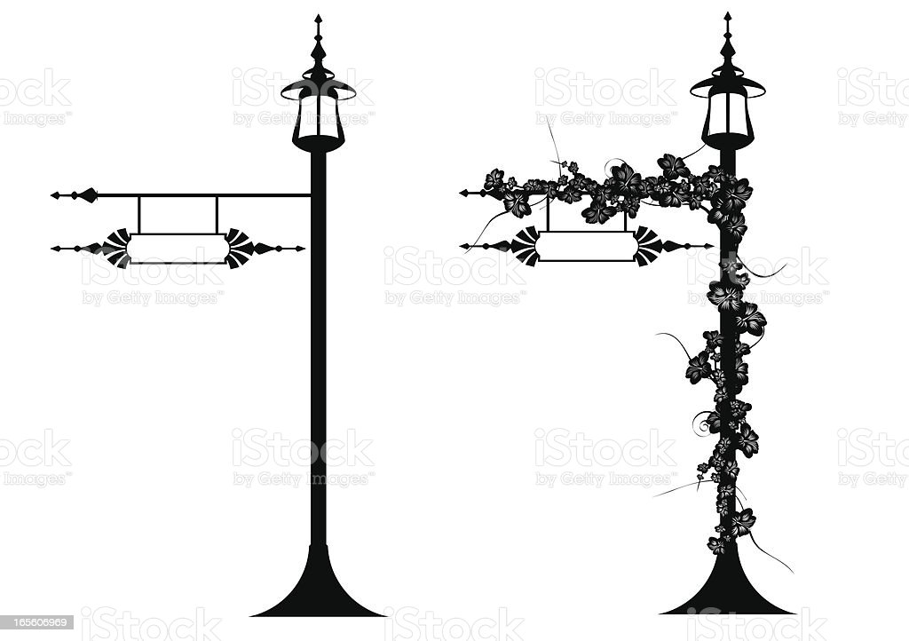Victorian pole vector art illustration