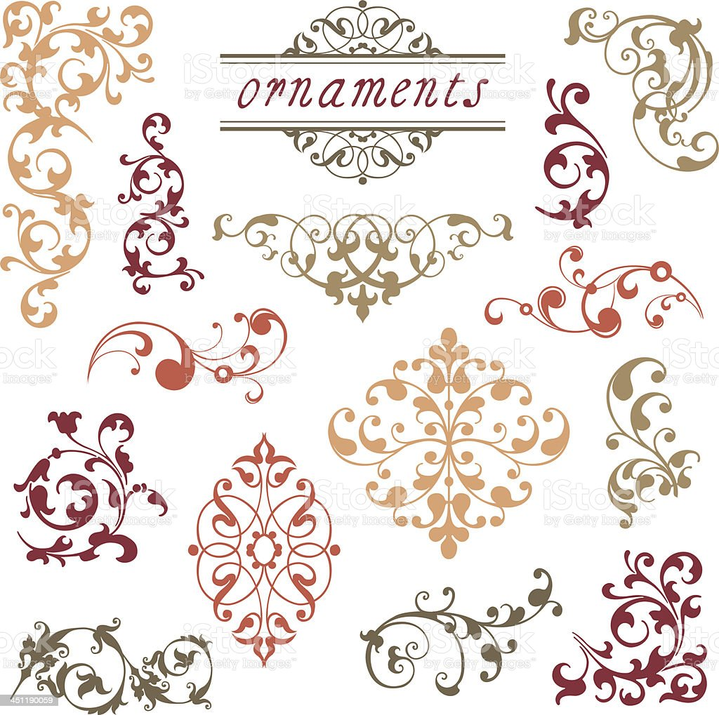Victorian Scroll Ornaments royalty-free stock vector art