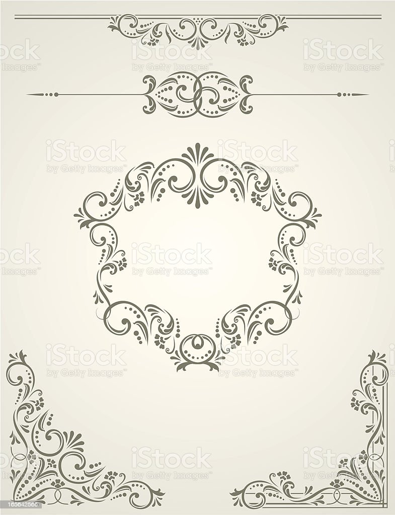 Victorian Scroll Set royalty-free stock vector art