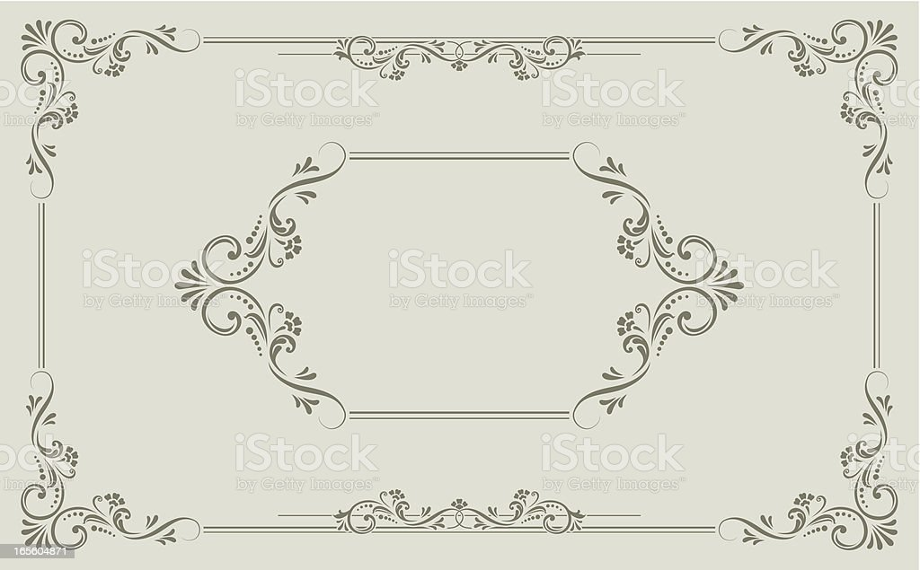 Victorian Scroll vector art illustration