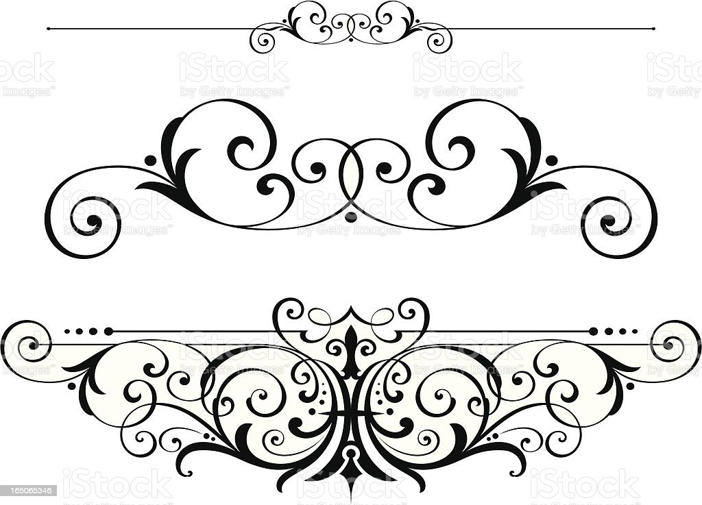 Victorian Scrolls and Ruleline vector art illustration