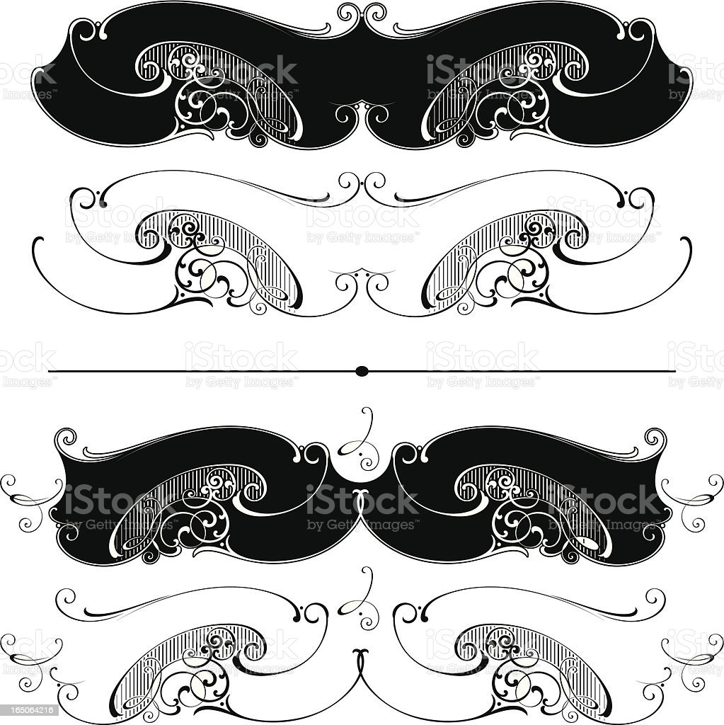 Victorian Sign and Lettering Ribbons royalty-free stock vector art