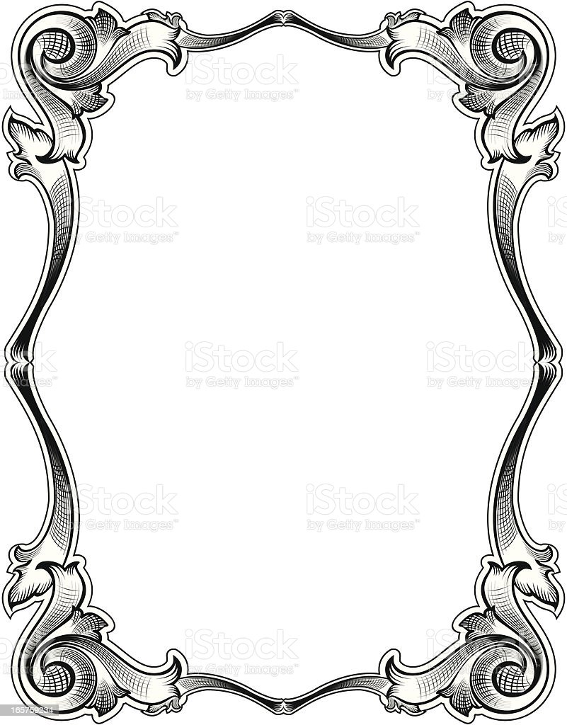 victorian style old frame stock vector art more images of angle rh istockphoto com victorian ornament frame vector free victorian border frame vector