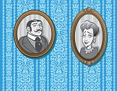 Great Victorian wallpaper design plus two vintage photos included. Use the wallpaper background as a backdrop for internet application or use the two photos, the choice is yours! EPS and JPEG files included. Be sure to view my other illustrations, thanks!