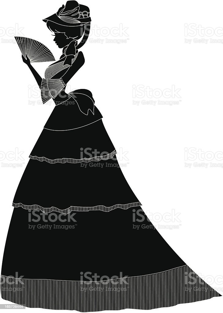 4a3273b53e3 Victorian Woman Full Body Silhouette Stock Vector Art   More Images ...
