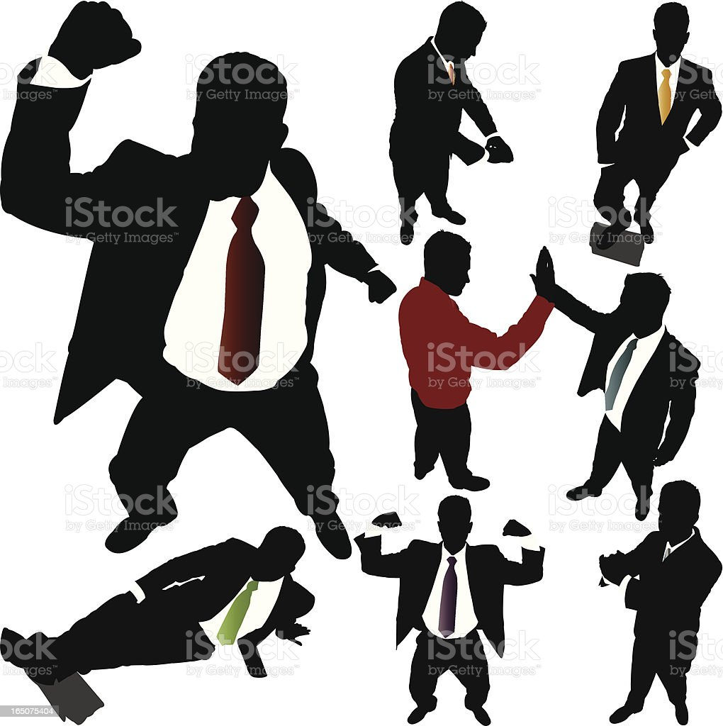 Victorious Businessman From Above Series royalty-free victorious businessman from above series stock vector art & more images of achievement