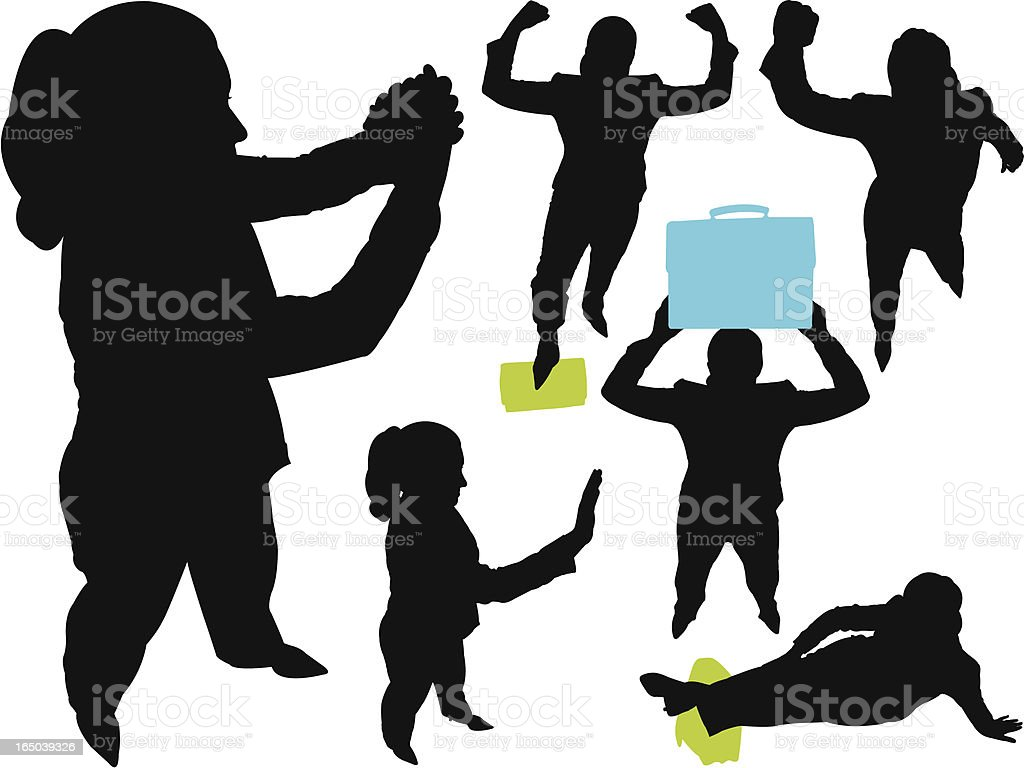 Victorious Businesswoman From Above Series royalty-free stock vector art