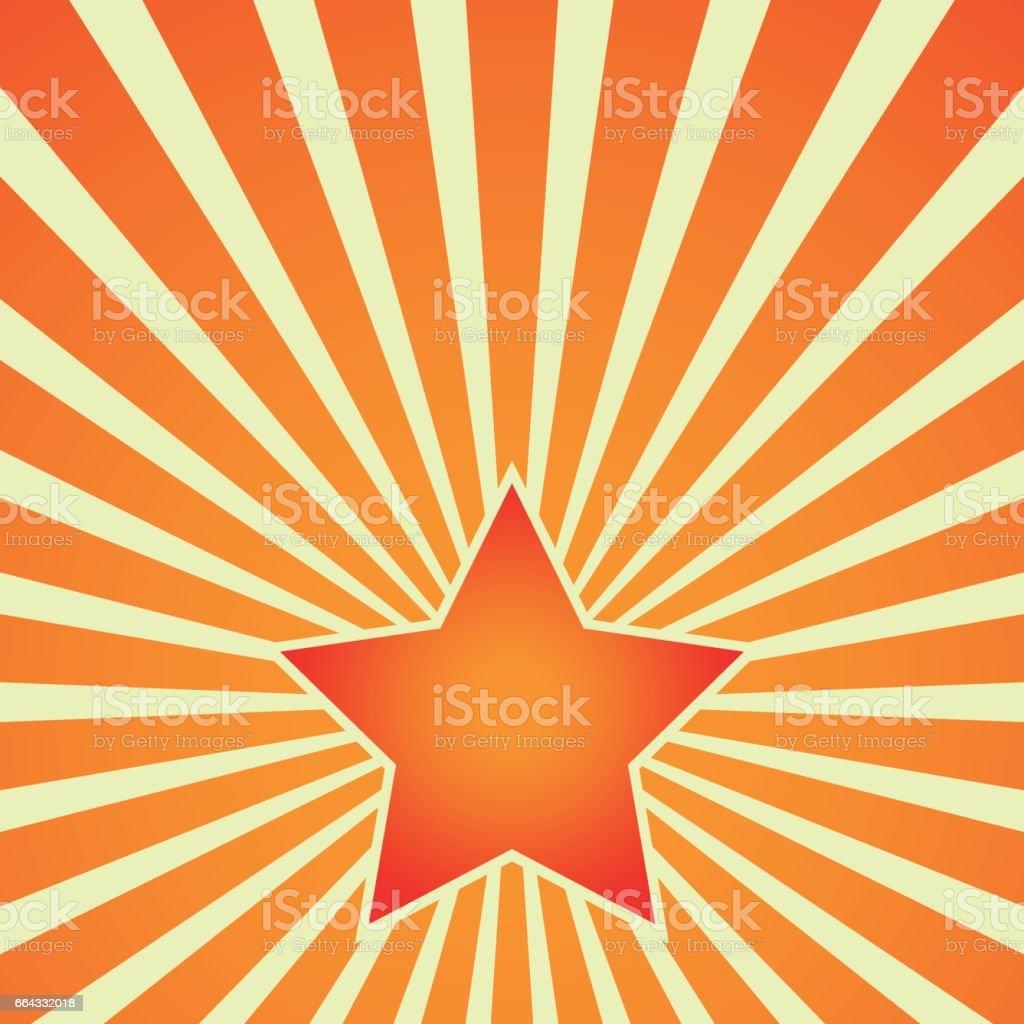 Victoria día la estrella roja sobre fondo de rayas. Vector - ilustración de arte vectorial