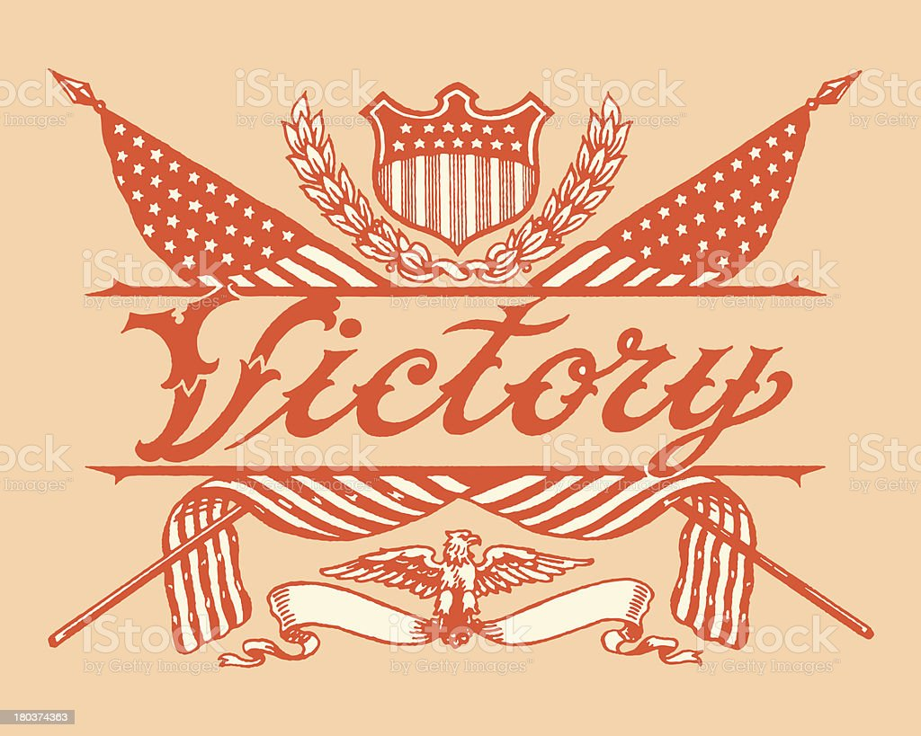 Victory Insignia royalty-free stock vector art