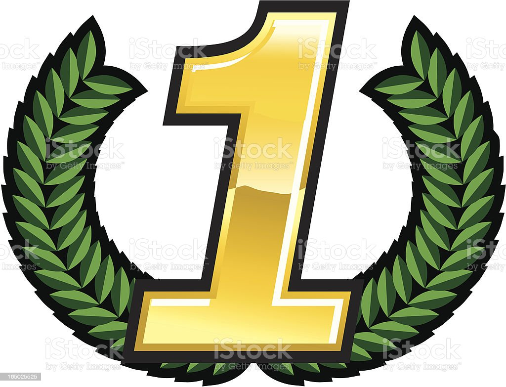 Victory! Number one! royalty-free stock vector art