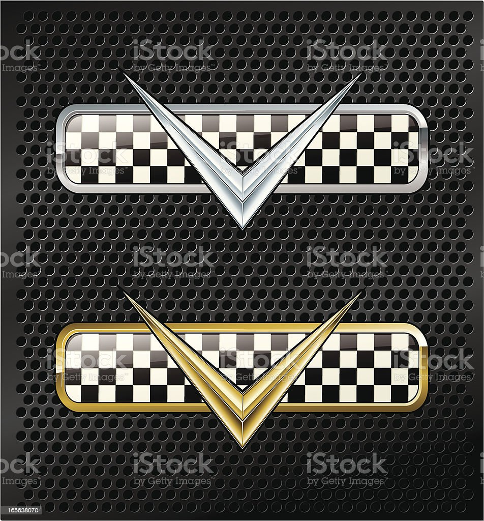 Victory plaques royalty-free stock vector art