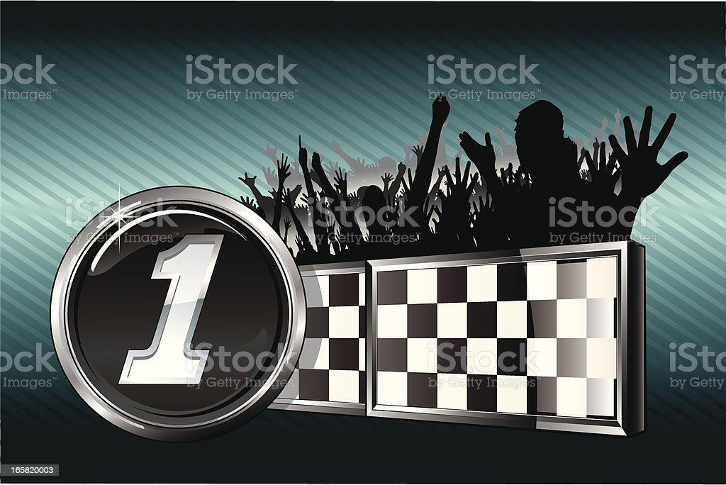 Victory Racing Emblem vector art illustration