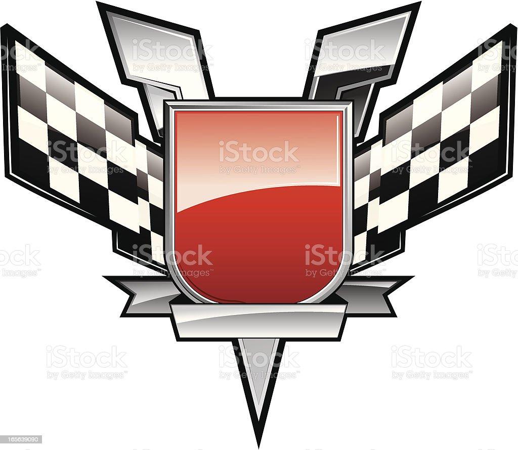 Victory shield royalty-free stock vector art