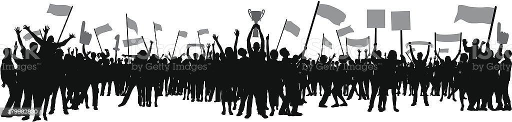 Victory (79 Separate People) vector art illustration