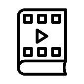 video book Thin Line Vector Icon