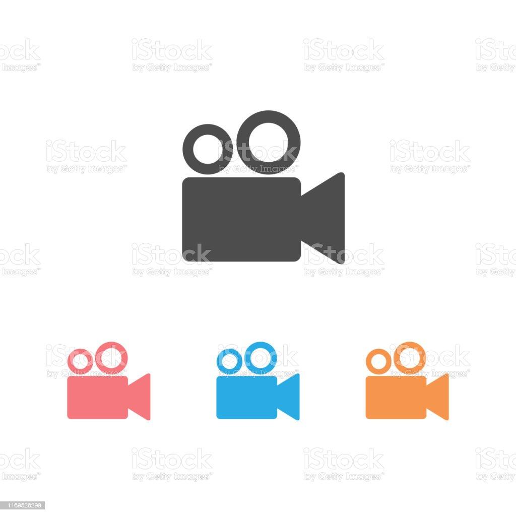 Einfache Videokamerasymbol Stock Vektor Art und mehr Bilder von Camcorder -  iStock