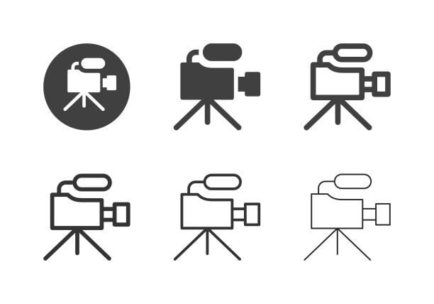 Video Camera Icons - Multi Series vector art illustration