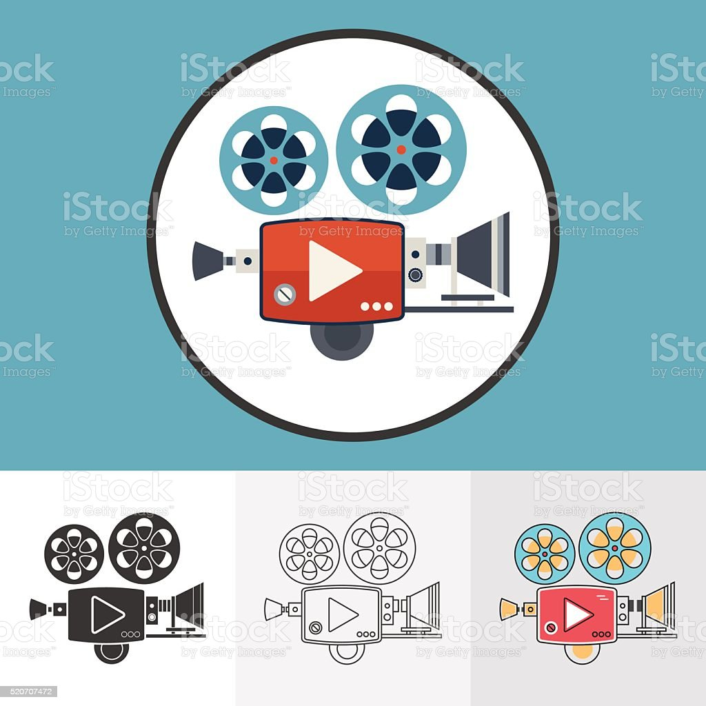 Vector illustration of video camera icons set for your design