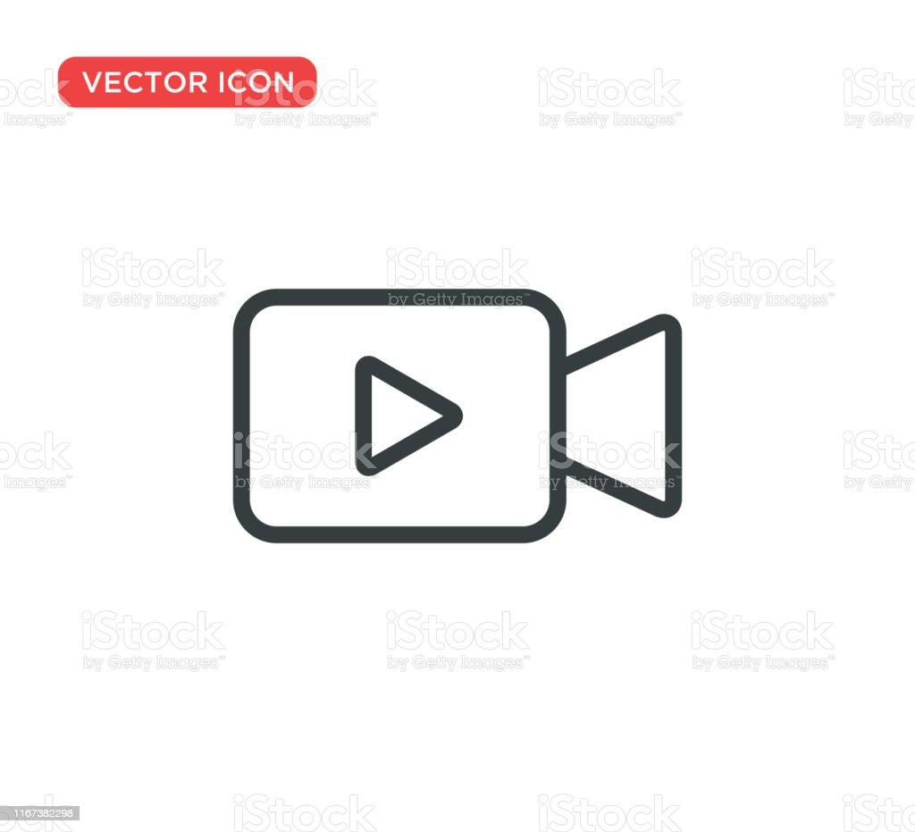 Conception d'illustration de vecteur d'icône d'icône de caméra vidéo - clipart vectoriel de Appareil photo libre de droits