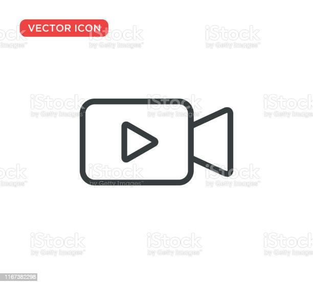 Conception Dillustration De Vecteur Dicône Dicône De Caméra Vidéo Vecteurs libres de droits et plus d'images vectorielles de Appareil photo