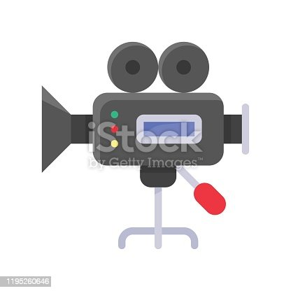istock video camera recorder related art or craft vector in flat design 1195260646