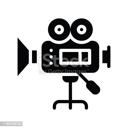 istock video camera recorder related art or craft vector in solid design 1195259253