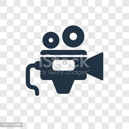 Video Camera vector icon isolated on transparent background, Video Camera transparency logo concept